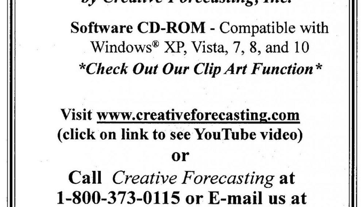 Creative Forecasting – January 2019