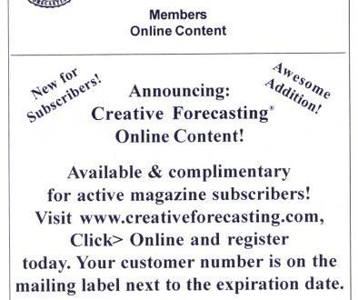 Creative Forecasting!