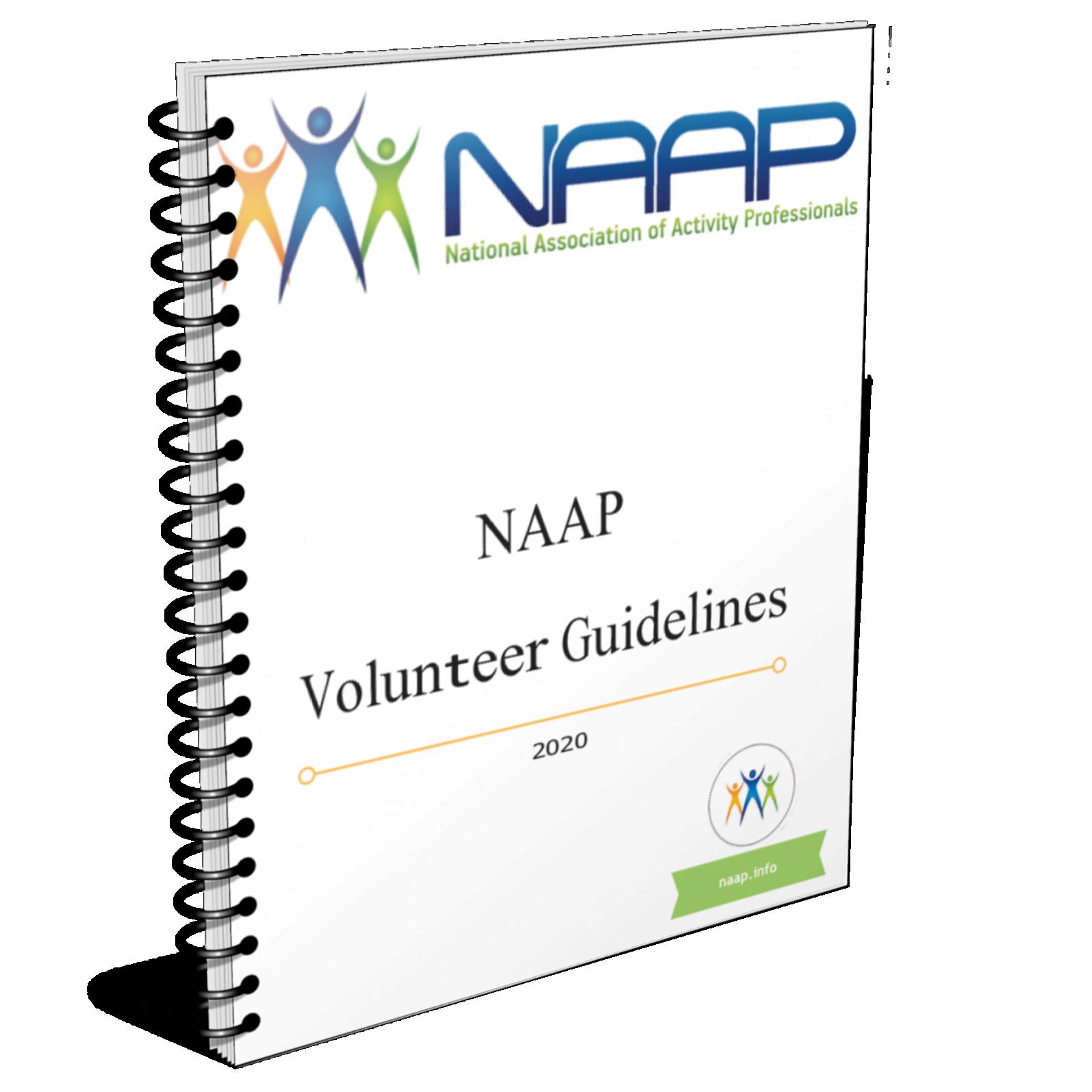 NAAP Volunteer Guidelines sprial cover